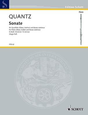 Sonate h-moll -Flöte Oboe, Violine Bc - QUANTZ - laflutedepan.com