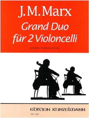 Grand Duo J. M. Marx Partition Violoncelle - laflutedepan