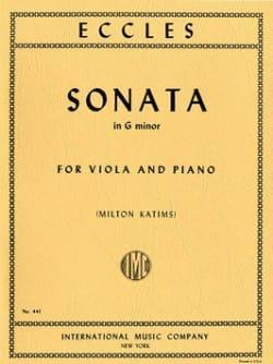 Sonata in G minor - Viola Henry Eccles Partition Alto - laflutedepan