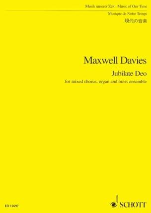 Jubilate Deo - Score Davies Peter Maxwell Partition laflutedepan