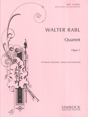 Quatuor en Mib Majeur, op. 1 Walter Rabl Partition laflutedepan