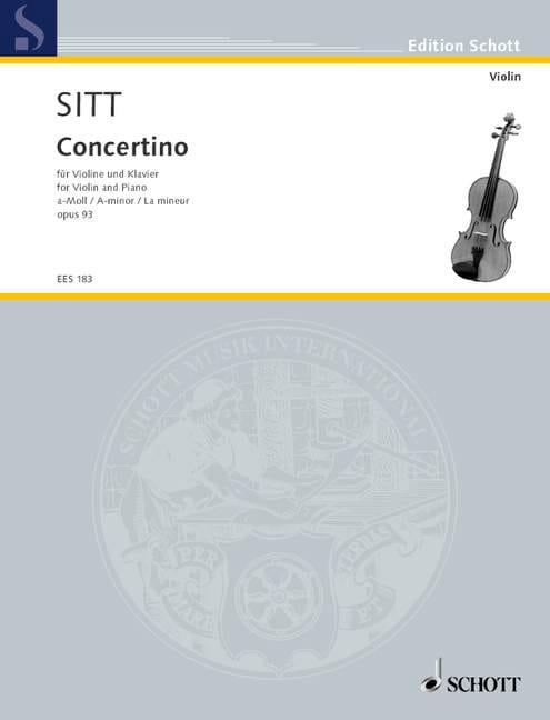 Concertino A-Moll op. 93 - Hans Sitt - Partition - laflutedepan.com
