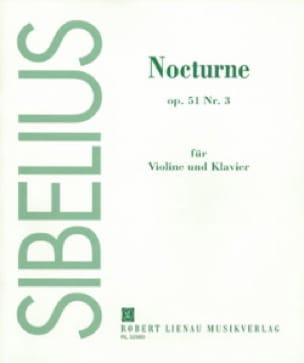 Nocturne op. 51 n° 3 - SIBELIUS - Partition - laflutedepan.com