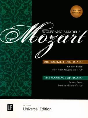 Die Hochzeit des Figaro - 2 Flöten o. Violinen MOZART laflutedepan