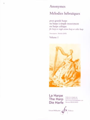 Melodies Hebraiques - Volume 1 Partition Harpe - laflutedepan