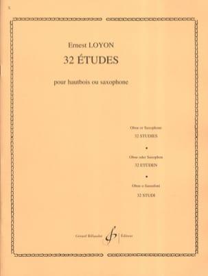 32 Etudes Ernest Loyon Partition Hautbois - laflutedepan