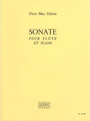 Sonate -Flûte piano Pierre-Max Dubois Partition laflutedepan