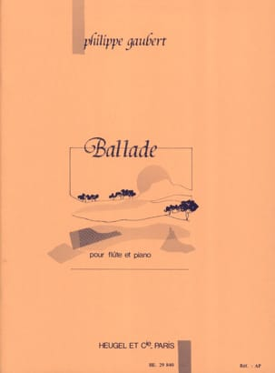 Ballade Philippe Gaubert Partition Flûte traversière - laflutedepan