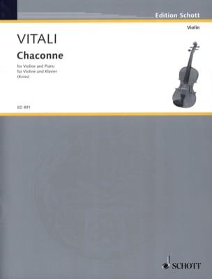 Chaconne Tommaso Antonio Vitali Partition Violon - laflutedepan