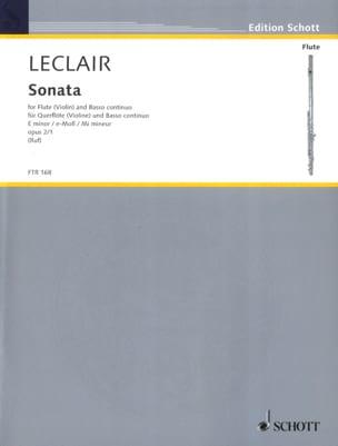 Sonate mi mineur op. 2 n° 1 - Flûte et Bc LECLAIR laflutedepan