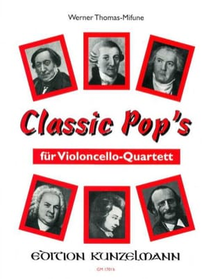 Classic Pop's - 4 Cellos Werner Thomas-Mifune Partition laflutedepan