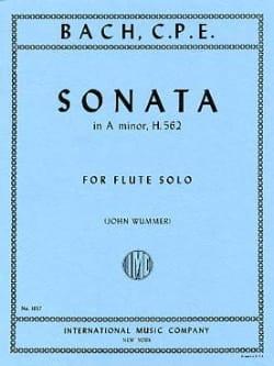 Sonata in A minor H. 562 - Flute Solo laflutedepan
