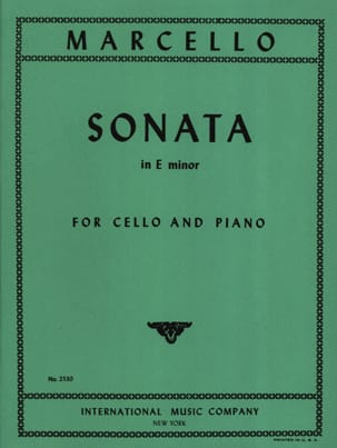 Sonate en mi mineur Benedetto Marcello Partition laflutedepan