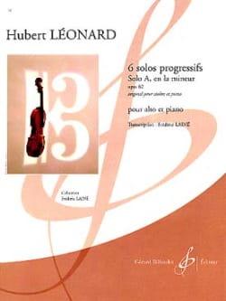 Solo A en la mineur op. 62 Hubert Léonard Partition laflutedepan