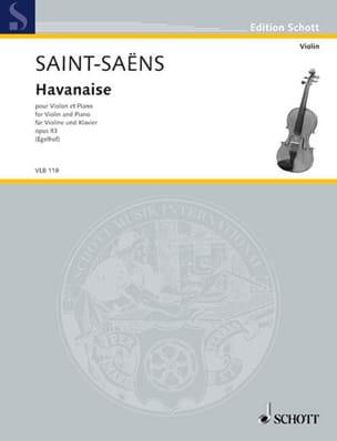Havanaise Op.83 SAINT-SAËNS Partition Violon - laflutedepan