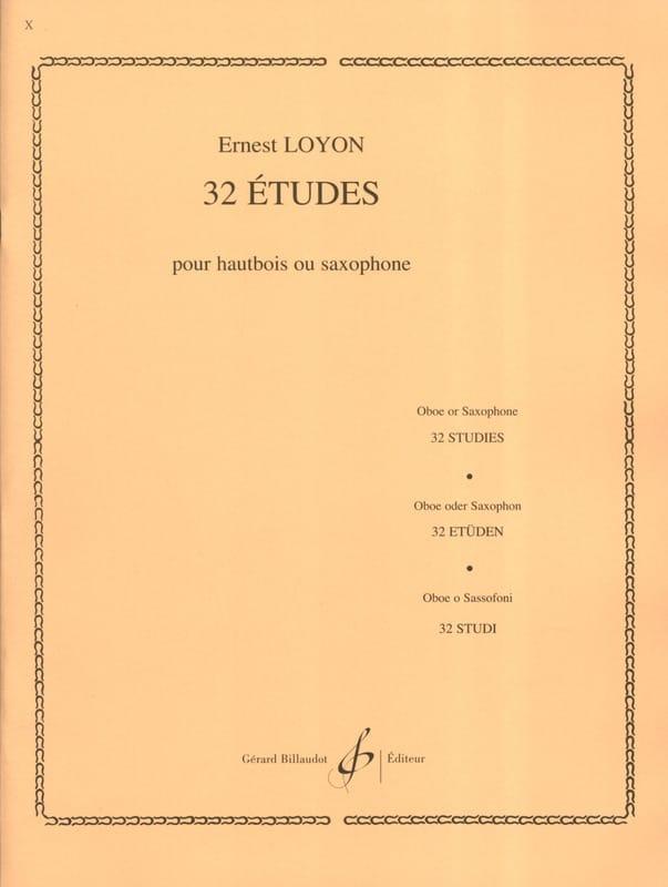 32 Etudes - Ernest Loyon - Partition - Hautbois - laflutedepan.com
