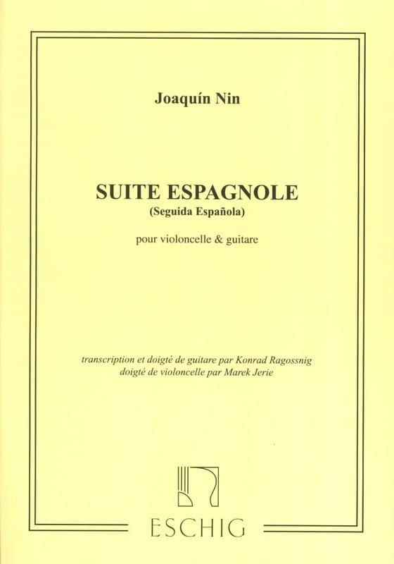 Suite espagnole - cello guitare - Joaquin Nin - laflutedepan.com