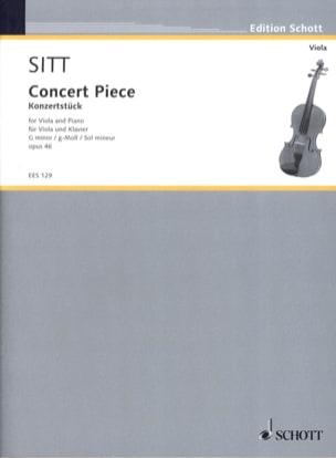 Konzertstück G moll op. 46 Hans Sitt Partition Alto - laflutedepan