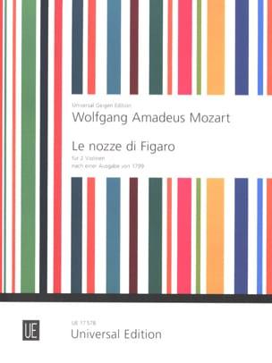 Die Hochzeit des Figaro für 2 Violinen MOZART Partition laflutedepan