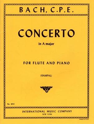 Concerto A major - Flûte piano Carl Philipp Emanuel Bach laflutedepan