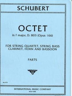 Octet In F Fa M., Op. 166 - Clarinette-Cor-Basson-Quatuor A Cordes-Contrebasse laflutedepan