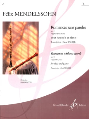 Romances Sans Paroles Opus 53 Vol.4 MENDELSSOHN Partition laflutedepan