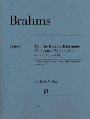Trio en la mineur, op. 114 - Clarinette ou alto, Violoncelle et Piano laflutedepan