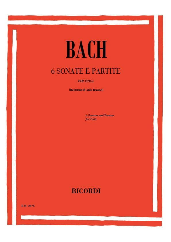 6 Sonate e Partite - BACH - Partition - Alto - laflutedepan.com