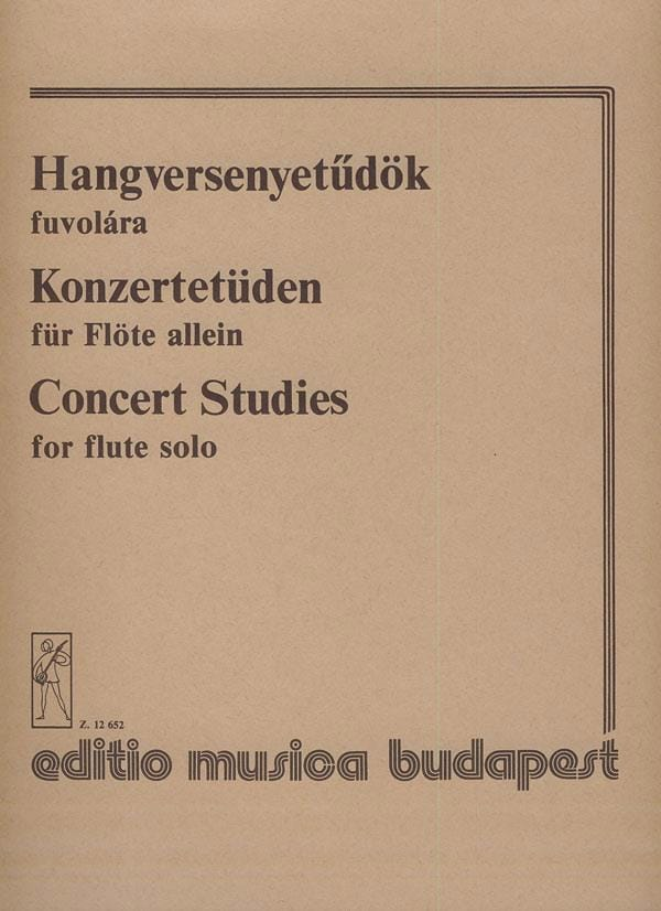 Concert studies - flute solo - Partition - laflutedepan.com