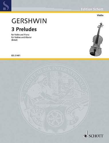3 Préludes - GERSHWIN - Partition - Violon - laflutedepan.com
