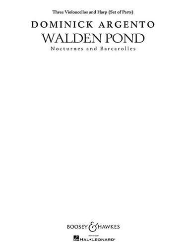 Walden Pond - Dominick Argento - Partition - laflutedepan.com