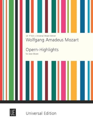 Die schönsten Stücke - 2 Oboen MOZART Partition laflutedepan