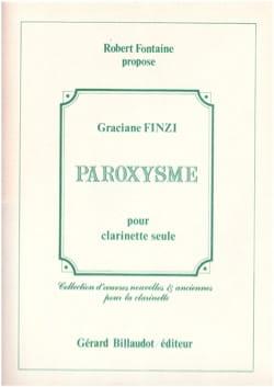 Paroxysme - Graciane Finzi - Partition - Clarinette - laflutedepan.com