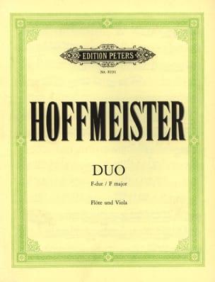 Duo in F-Dur - Flöte und Viola HOFFMEISTER Partition laflutedepan