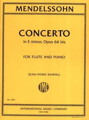 Concerto in E minor op. 64bis - Flute piano MENDELSSOHN laflutedepan