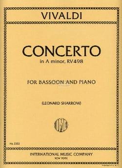 Concerto In A Minor Rv 498 F. 8 N°2 VIVALDI Partition laflutedepan