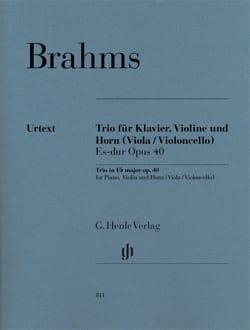 Trio en Mib M., op. 40 - Cor, Violon et Piano BRAHMS laflutedepan