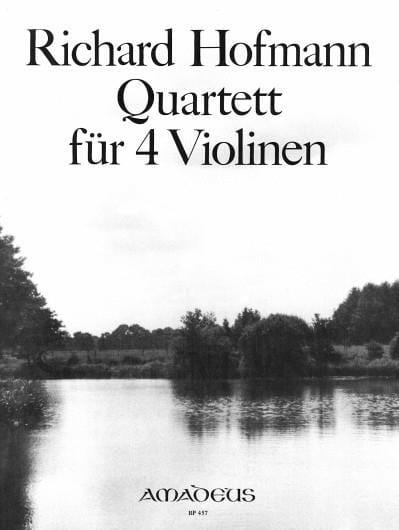 Quartett für 4 Violinen op. 98 - Richard Hofmann - laflutedepan.com