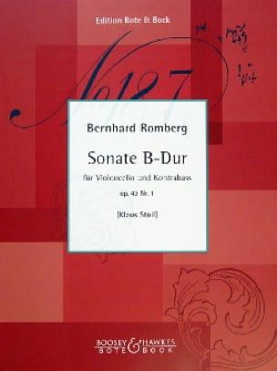 Sonate B-Dur op. 43 n° 1 - Cello Kontrabass - laflutedepan.com