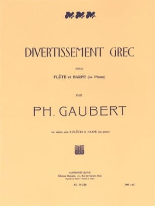 Divertissement grec - Flûte harpe Philippe Gaubert laflutedepan