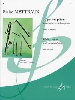 30 Petites pièces - Volume 2 Blaise Mettraux Partition laflutedepan