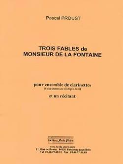 3 Fables de la Fontaine Pascal Proust Partition laflutedepan
