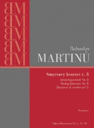 Quatuor à cordes n° 5 - Parties - MARTINU - laflutedepan.com