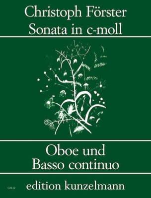 Sonate c-moll - Oboe und Bc Christoph Förster Partition laflutedepan