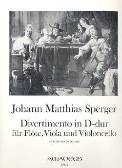 Divertimento in D-Dur -Flöte Viola Violonc. - Stimmen laflutedepan