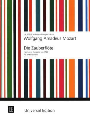Die Zauberflöte für 2 Violinen MOZART Partition Violon - laflutedepan