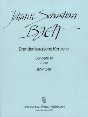 Brandenburgisches Konzert Nr. 4 G-Dur BWV 1049 - Conducteur - laflutedepan.com