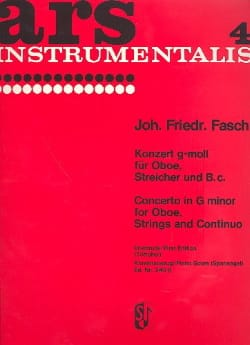 Konzert g-moll - Oboe Klavier Johann Friedrich Fasch laflutedepan