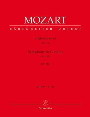 Symphonie Nr. 32 G-dur KV 318 - Partitur MOZART Partition laflutedepan