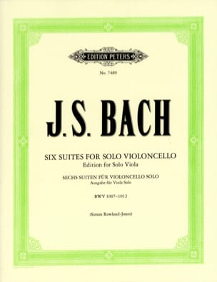 BACH - 6 Suites For Cello Only Transcribed For Viola - Partition - di-arezzo.com